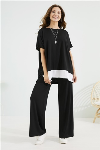 Pant Blouse Set - BLACK