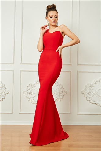 Long Evening Dress - RED