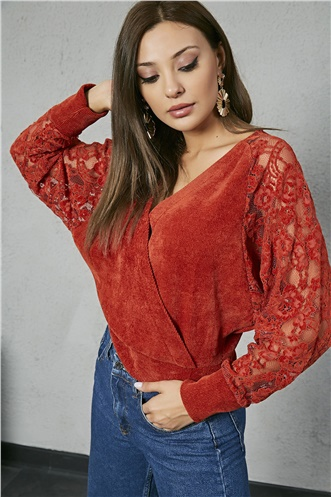 Sleeves Lace Double - CINNAMON