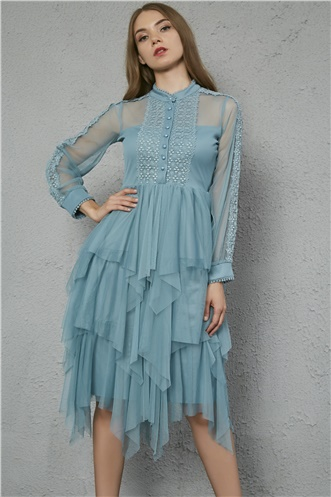 Tulle Dress - TURQUOISE