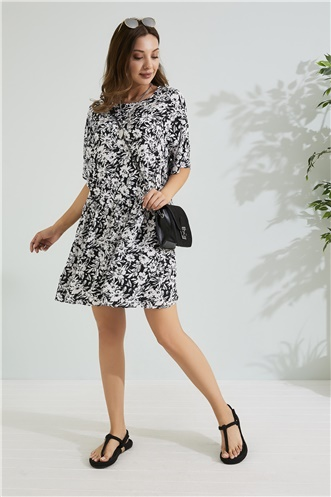 Relax Fit Dress - BLACK-AND-WHITE