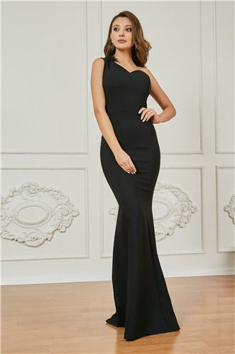 Long Evening Dress - BLACK