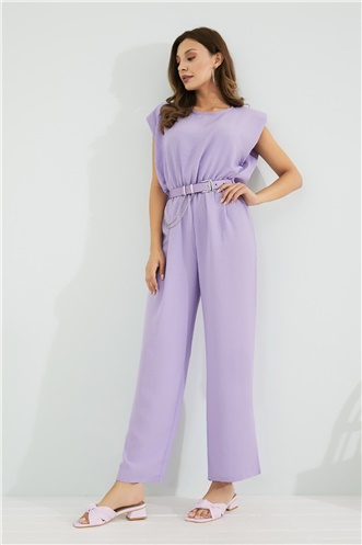 Belt Detail Jumpsuit - LILA