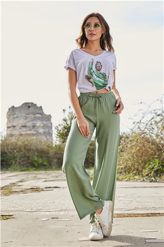 Baggy Pant - GREEN ALMOND