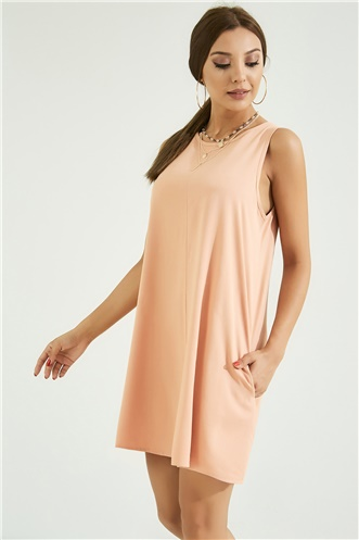 Relax Fit Dress - POWDER