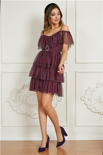 Short Party Dress - PURPLE