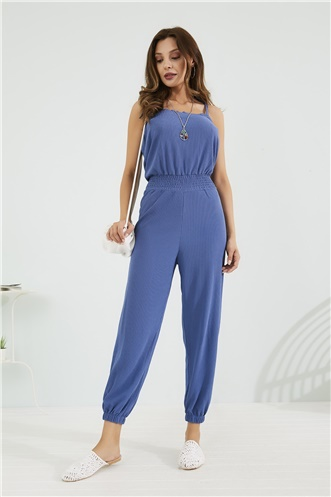 Relax Fit Jumpsuit - INDIGO